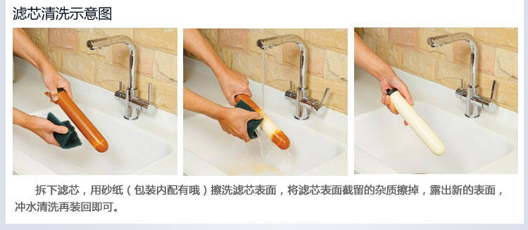 陶瓷滤芯净水器清洗示意图